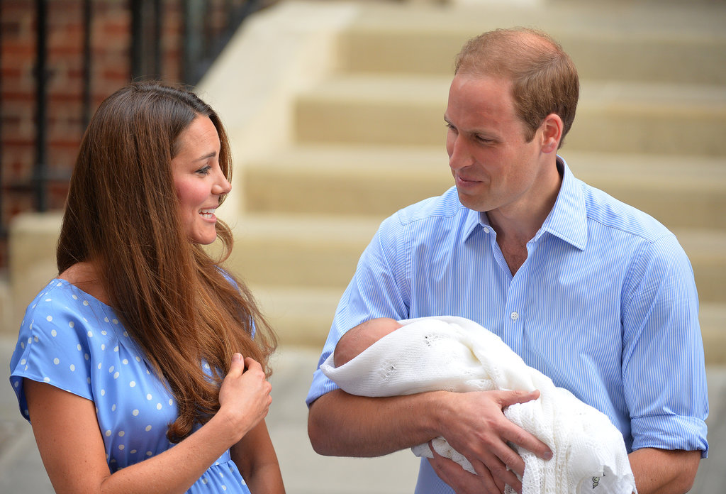 The Duke and Duchess of Cambridge shared a fun moment outside St. Mary's Hospital.