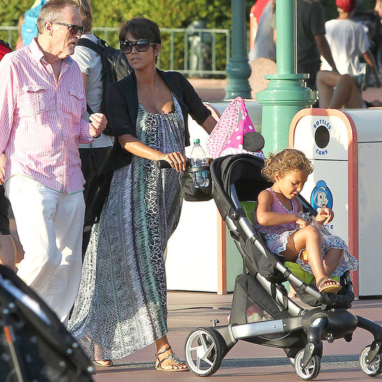 Halle Berry Takes Nahla to Disneyland | Photos