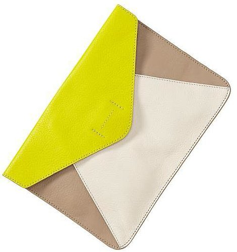 Colorblock leather envelope clutch