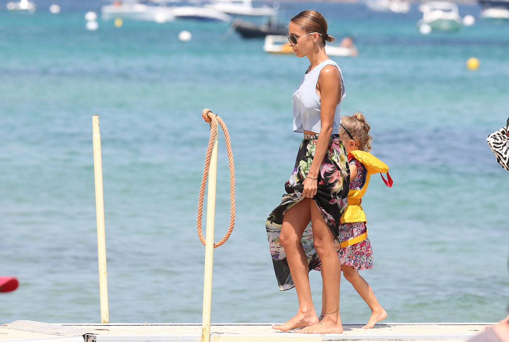 Nicole Richie took her daughter, Harlow, to the beach.