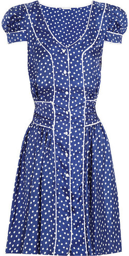 Rosamosario Polka Dots Loca silk-satin twill dress