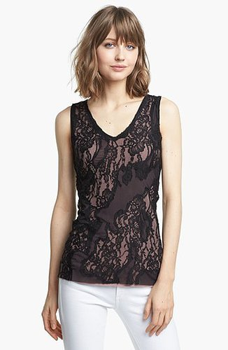 Bailey 44 'Bazaar' Lace Top Black Medium