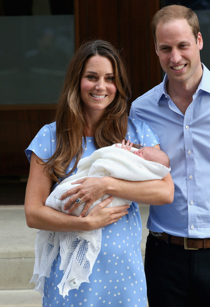 The Duke and Duchess of Cambridge smiled when they left the hospital.