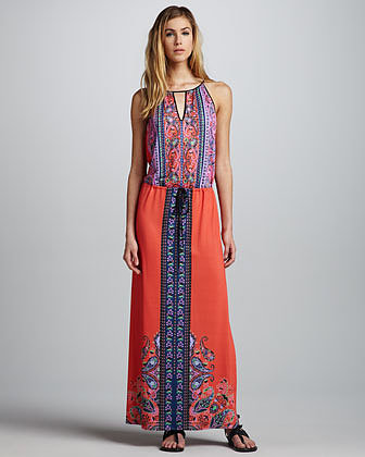 Clover Canyon Scarf-Print Maxi Dress