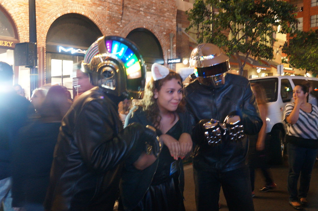 Daft Punk mingles with random access guests.