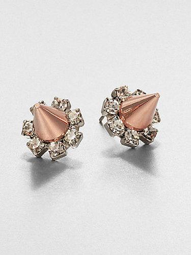 Joomi Lim Crystal & Spike Stud Earrings