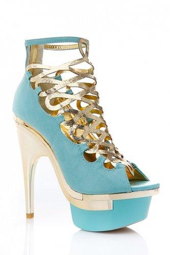 Mona Mia Collezione Gold Caged Heel