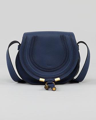 Chloe Marcie Crossbody Bag, Blue