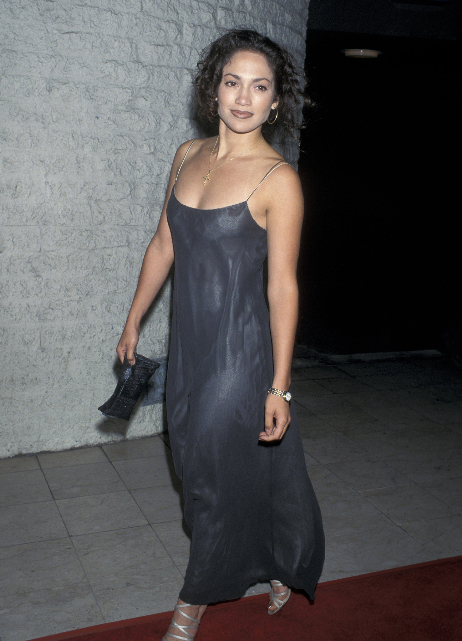 Curls and a breezy maxi for the Desperado premiere in J Lo's early days in '95.