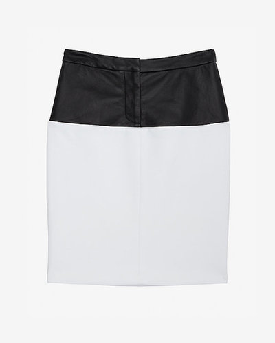 Yigal Azrouel Leather Waisted Pencil Skirt