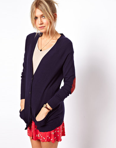 ASOS Elbow Patch Boyfriend Cardigan