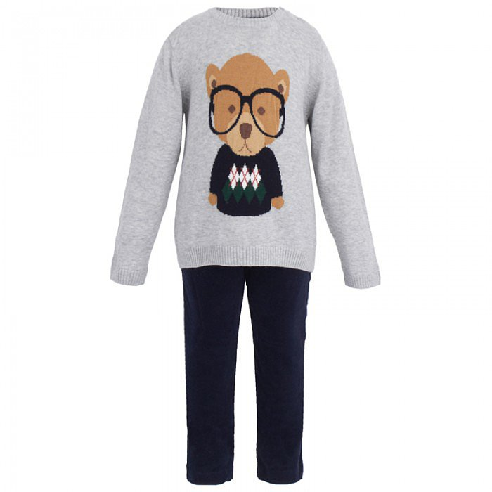 Mayoral Gray Bear Jumper and Moleskin Pants