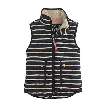 J.Crew Girls' Excursion Quilted Vest