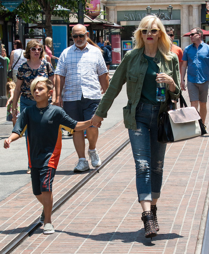 Gwen Stefani's anorak and caged booties made a statement, but her high-waisted distressed denim gave her an even cooler edge. Next time you grab your favorite jeans, make sure they have holes in them.