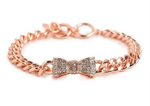Rose Bow Link Bracelet
