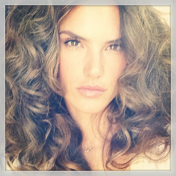Alessandra Ambrosio rocked a curly mane for a campaign shoot. Source: Instagram user alessandraambrosio