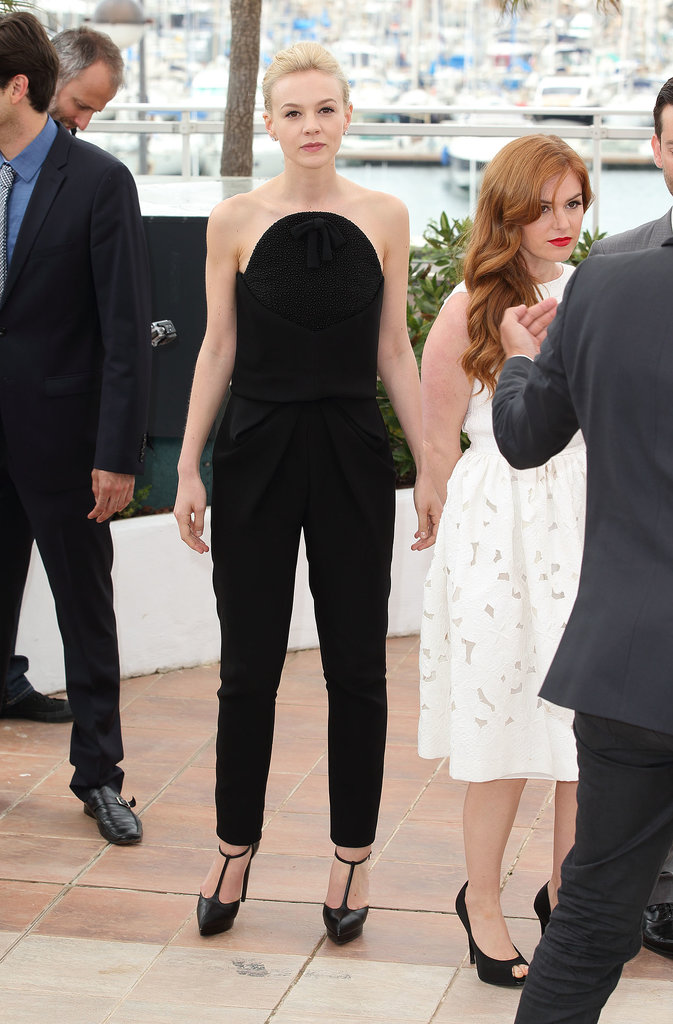 At The Great Gatsby photo-call during the 2013 Cannes Film Festival, Carey Mulligan showed off yet another Balenciaga look, this time a very chic black jumpsuit.