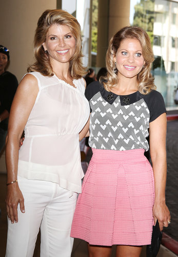 Candace Cameron Bure and Lori Loughlin had a mini Full House reunion at the Television Critic Association Summer Press Tour.