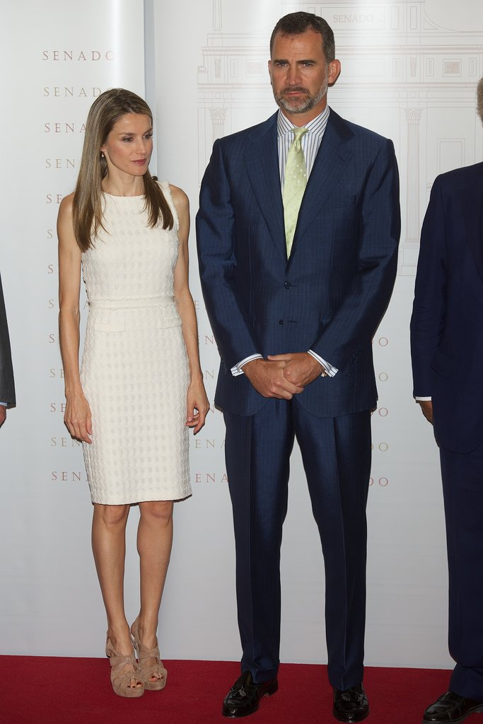 Prince Felipe and Princess Letizia of Spain helped honor journalists at the Luis Carandell Journalism Awards.