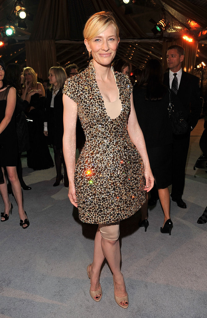 Cate Blanchett in Sequined Alexander McQueen at the 2008 The Curious Case of Benjamin Button LA Premiere
