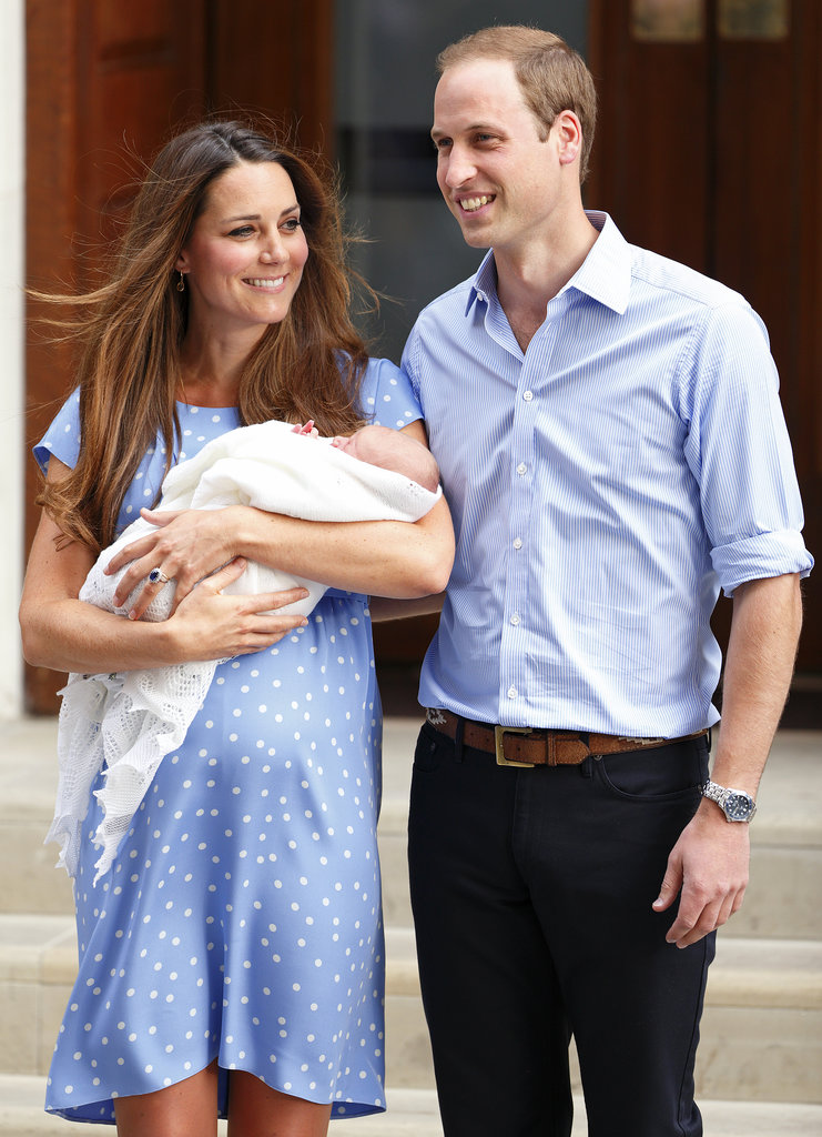 Prince George made his first public appearance as he left St. Mary's Hospital in London with new parents Kate Middleton and Prince William.