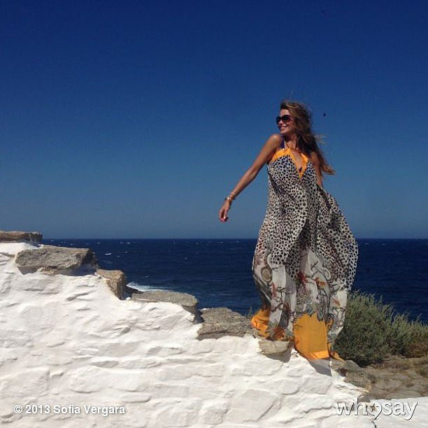 Sofia Vergara took an epic staircase shot in Greece. Source: Sofia Vergara on WhoSay