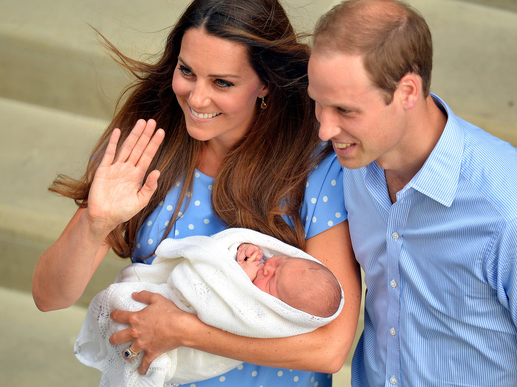 Kate Middleton and Prince William looked happier than ever showing off their newborn baby, Prince George Alexander Louis, for the first time on July 24.