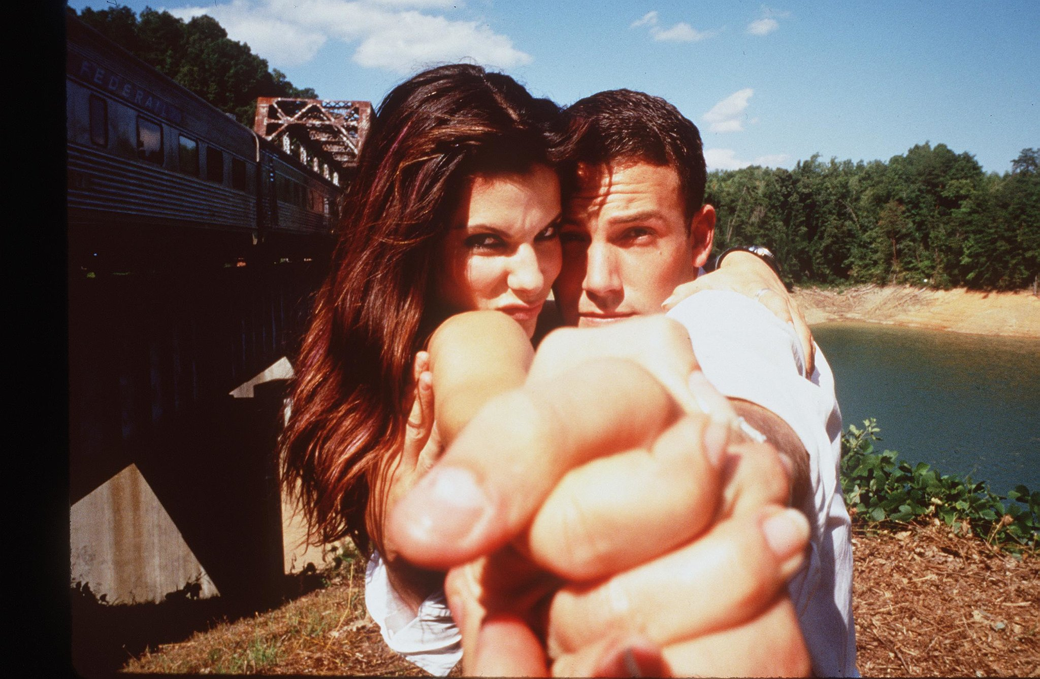 She and Ben Affleck got goofy in front of the cameras while shooting Forces of Nature in 1999.