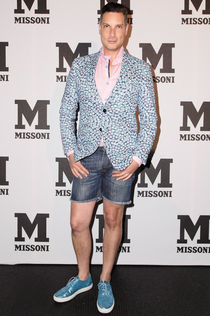 Cameron Silver bared his gams for M Missoni's Summer party.