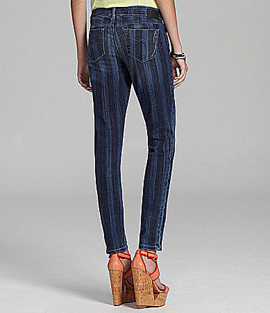 SOLD Denim Soho Striped Skinny Jeans