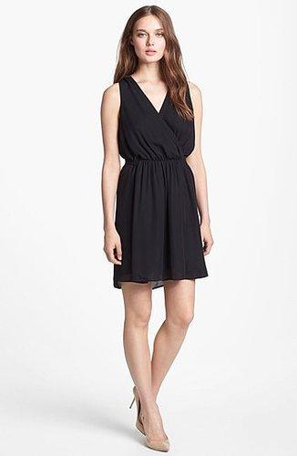 Joie 'Yonina' Silk Faux Wrap Dress Caviar Large