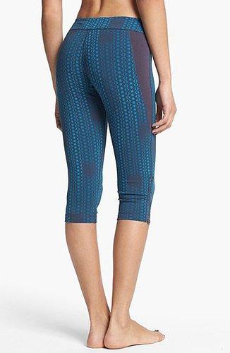 Unit-Y 'Surefire' Zip Hem Capri Leggings Womens Dark Alder Verticle Geo Size X-Small X-Small