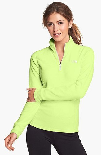 The North Face 'Glacier' Quarter Zip Pullover Rave Green X-Large