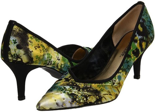 J. Renee - Natasha (Blue/Green Animal Print Sheer) - Footwear