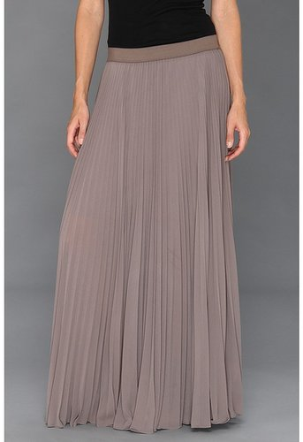 BCBGMAXAZRIA - Dallin Sunburst Pleated Maxi Skirt (London Fog) - Apparel