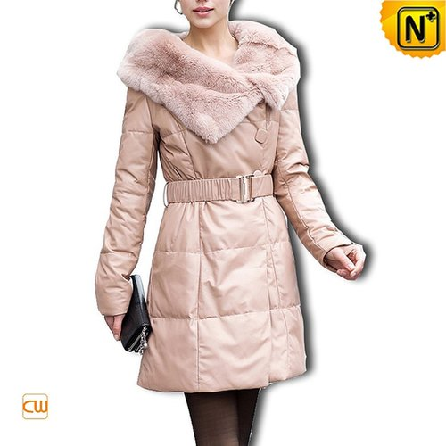 Women Long Leather Down Coat CW610010 - cwmalls.com