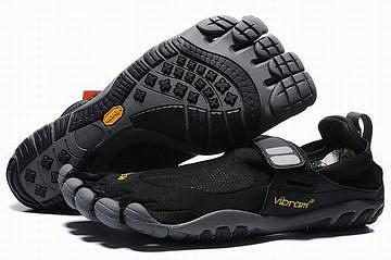 black and charcoal vibram 5 fingers treksport shoes