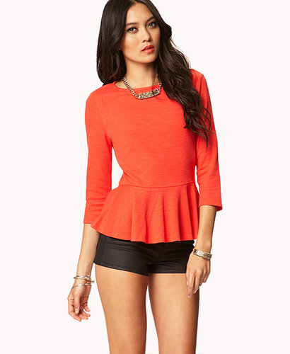 FOREVER 21 Essential Peplum Top