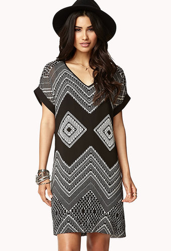 FOREVER 21 Southwestern Dream Shift Dress w/ Sash