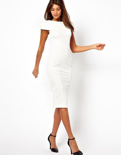 ASOS Pencil Dress With Fold Shoulder Detail