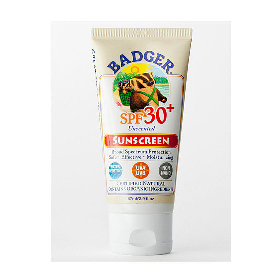 The sell on Badger Products SPF 30 Natural Sunscreen ($16) is the non-nanoparticle zinc oxide 18.75 percent. Sounds complicated, but it can't be absorbed into the blood stream, making this an ace product for adults and children.