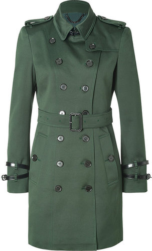 Burberry London Cotton Queensborough Trench in Dark Racing Green