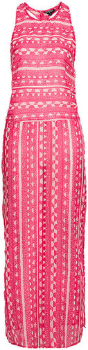 Hot Pink Aztec Maxi Cover Up