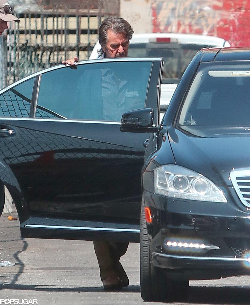 Al Pacino was on the set of Imagine in LA.