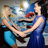Britney Spears and Katy Perry Meet at The Smurfs 2 Premiere