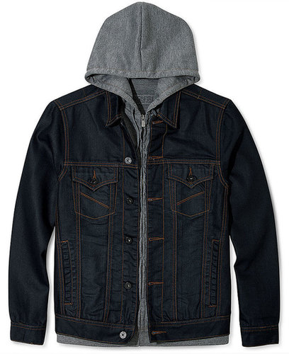 Ring of Fire Jacket, Palos Verdes Hooded Denim Jacket