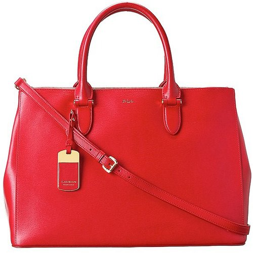 LAUREN Ralph Lauren - Newbury Double Zip Satchel (Red) - Bags and Luggage