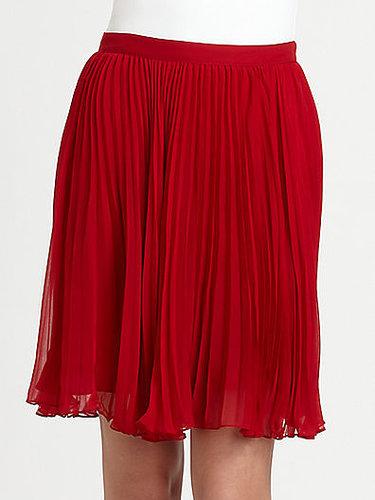 Ralph Lauren Blue Label Silk Chiffon Pipa Skirt
