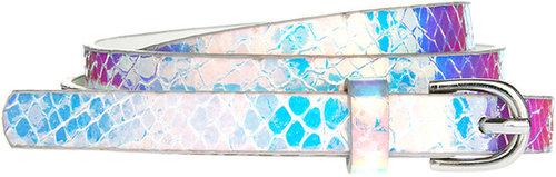 ASOS Super Skinny Waist Belt With Hologram Print