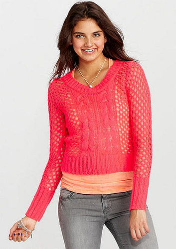 Open Cable Pullover